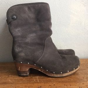 Ugg Suede and shearling boots